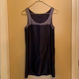 Silk charcoal mini dress